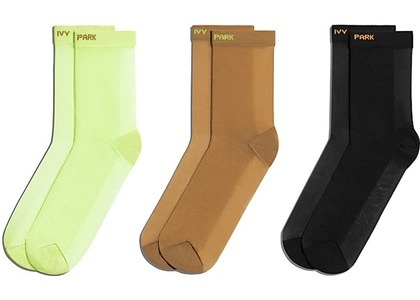 adidas Ivy Park Sheer Socks 3-Pack Hi Res Yellow/Mesa/Black (FW20)の写真