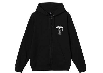 Stussy World Tour Zip Hood Black (SS21)の写真