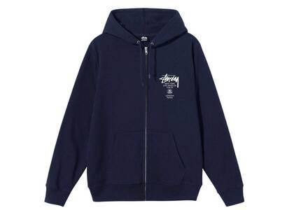 Stussy World Tour Zip Hood Navy (SS21)の写真