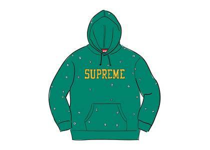 Supreme Eyelet Hooded Sweatshirt Light Pineの写真