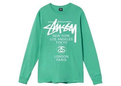 Stussy World Tour LS Tee Green (SS21)の写真
