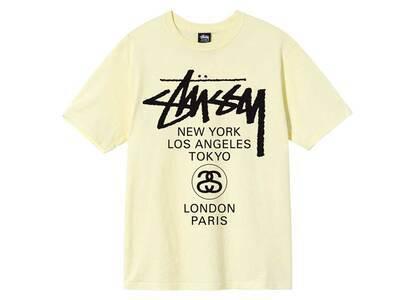 Stussy World Tour Tee Yellow (SS21)の写真