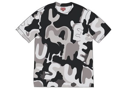 Supreme Painted Logo S-S Top Blackの写真