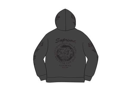 Supreme Dragon Overdyed Hooded Sweatshirt Blackの写真