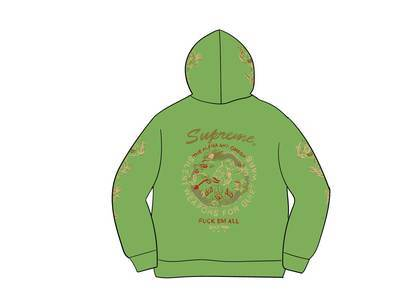 Supreme Dragon Overdyed Hooded Sweatshirt Limeの写真