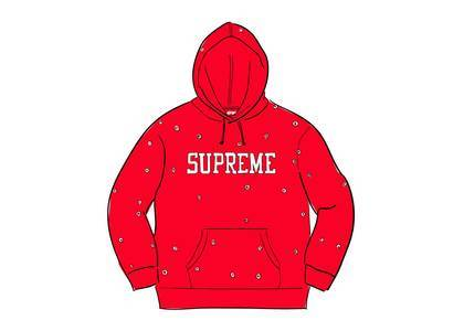 Supreme Eyelet Hooded Sweatshirt Redの写真