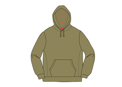 Supreme Small Box Hooded Sweatshirt Light Oliveの写真
