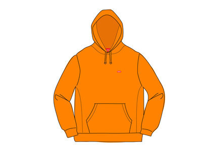 Supreme Small Box Hooded Sweatshirt Orangeの写真