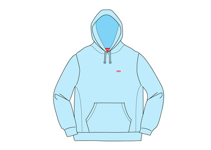 Supreme Small Box Hooded Sweatshirt Ice Blueの写真