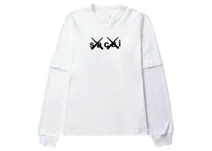 KAWS × Sacai Flock Print Long Sleeve T-shirt Whiteの写真