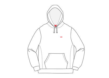 Supreme Small Box Hooded Sweatshirt Whiteの写真
