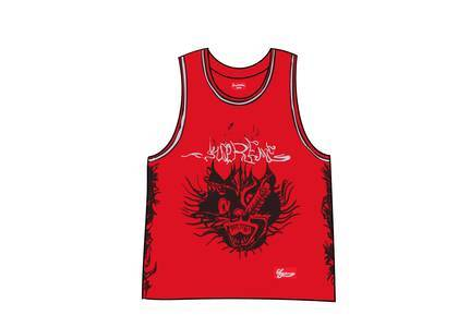 Supreme Animal Basketball Jersey Redの写真