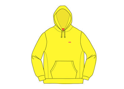 Supreme Small Box Hooded Sweatshirt Lemonの写真