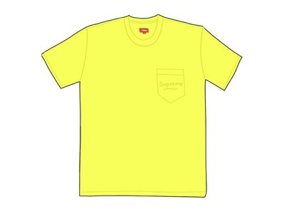 Supreme Overdyed Pocket Tee (SS20) Bright Yellowの写真