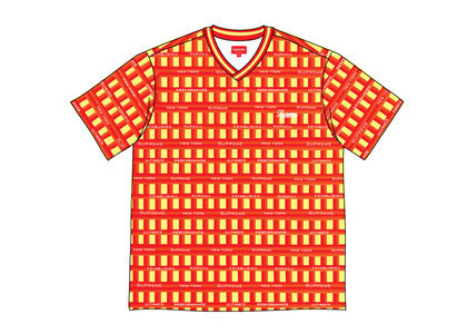 Supreme Grid Soccer Jersey Orangeの写真