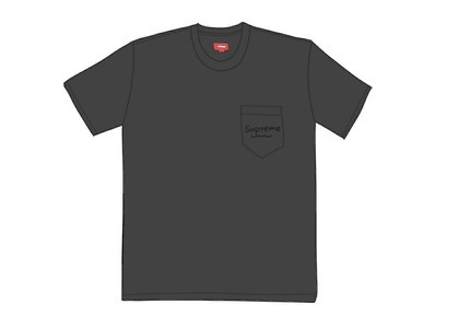 Supreme Overdyed Pocket Tee (SS20) Blackの写真