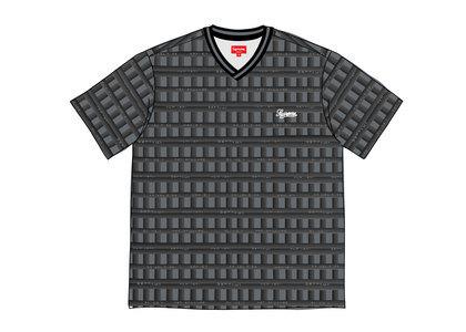 Supreme Grid Soccer Jersey Blackの写真