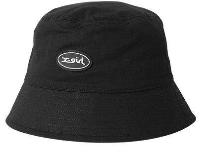 X-girl Oval Logo Bucket Hat Blackの写真