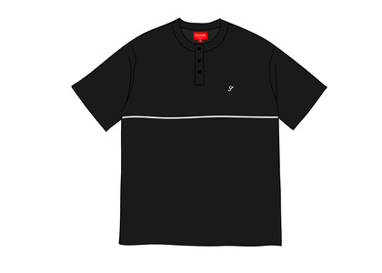 Supreme Terry S-S Henley Blackの写真