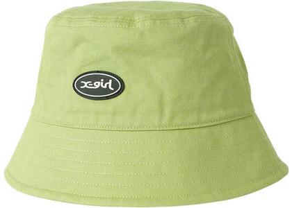 X-girl Oval Logo Bucket Hat Greenの写真