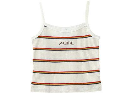 X-girl Multi Stripe Camisole Whiteの写真