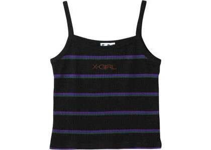 X-girl Multi Stripe Camisole Blackの写真