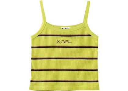 X-girl Multi Stripe Camisole Light Greenの写真