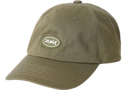 X-girl Oval Logo 6Panel Cap Oliveの写真