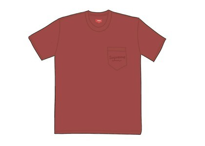 Supreme Overdyed Pocket Tee (SS20) Dark Redの写真