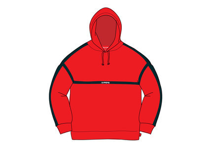Supreme Warm Up Hooded Sweatshirt Redの写真