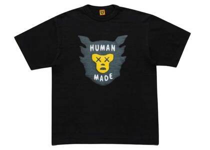 Kaws × Human Made Brand Logo T-Shirt Blackの写真