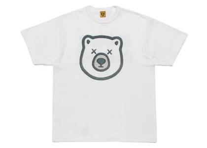 Kaws × Human Made Bear Logo T-Shirt Whiteの写真