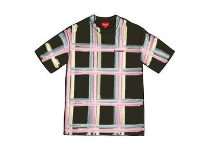 Supreme Sprayed Plaid S-S Top Blackの写真