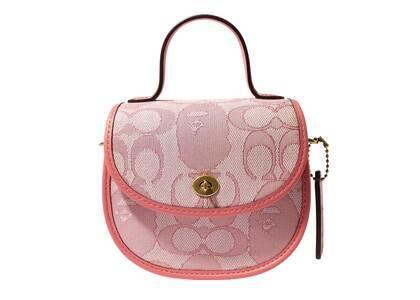 Coach × Bape Mini Top Handle Saddle Pink (SS21)の写真