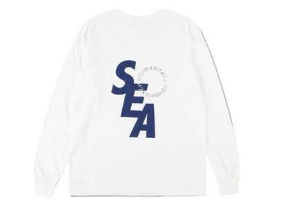 Wind And Sea SD L/S T-Shirt White Navyの写真