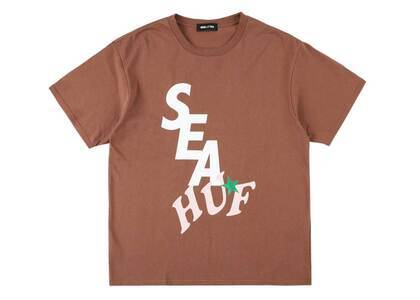 HUF × Wind And Sea Solid And Tie Dye Tee Brownの写真