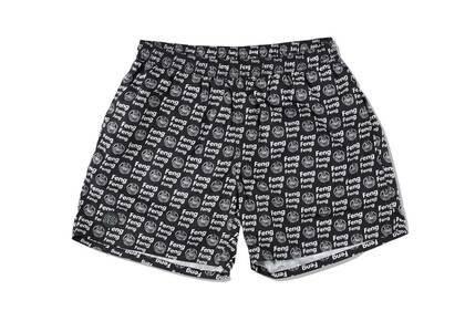 Wind And Sea Feng-Pattern Beach Shorts Blackの写真
