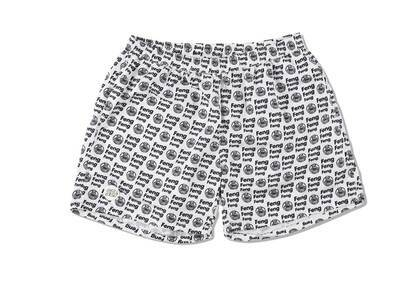 Wind And Sea Feng-Pattern Beach Shorts Whiteの写真