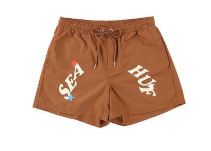 HUF × Wind And Sea Easy Shorts Brownの写真