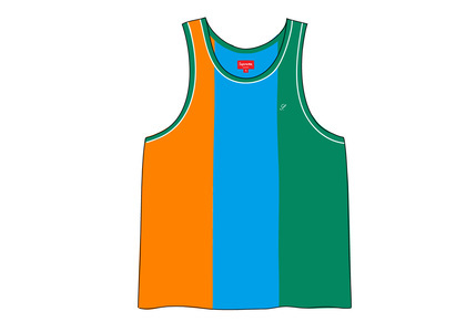 Supreme Velour Tank Top Greenの写真