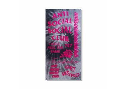 Anti Social Social Club Identity Crisis Black Tie Dye Towel Black (SS21)の写真