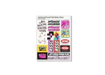 Anti Social Social Club All Talk 2021 Sticker Sheet Multi (SS21)の写真