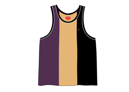 Supreme Velour Tank Top Blackの写真