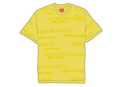 Supreme MCMXCIV Terry S-S Top Yellowの写真