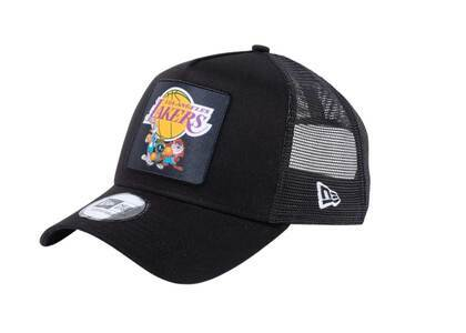 New Era 9Forty A-frame Trucker Space Players Space Jam Character Los Angeles Lakers Blackの写真