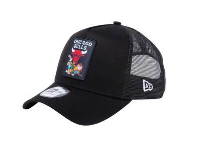 New Era 9Forty A-frame Trucker Space Players Space Jam Character Chicago Bulls Blackの写真