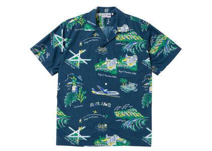 The Black Eye Patch Souvenir Aloha Shirt Navy (SS21)の写真