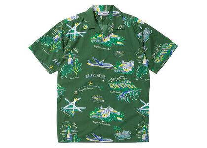 The Black Eye Patch Souvenir Aloha Shirt Olive (SS21)の写真