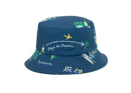 The Black Eye Patch Souvenir Aloha Bucket Hat Navy (SS21)の写真
