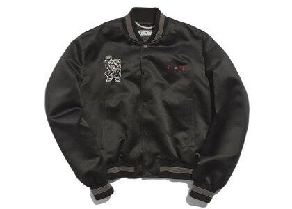 END. × Off-White Till The End Varsity Jacket Black / Red / Whiteの写真